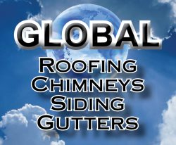 Global Roofing Chimneys Gutters & Siding Logo