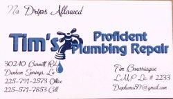 Tims Proficient Plumbing Repair LLC Logo