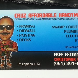 Cruz Affordable Handyman Service Cover Photo