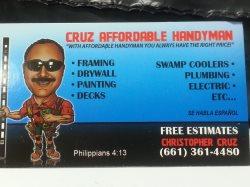 Cruz Affordable Handyman Service Logo