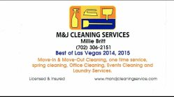 M&j Cleaning Service Logo