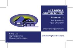A2b Moving & Furniture Delivery Logo