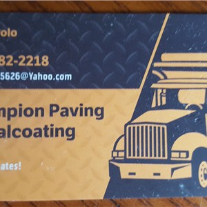 Champion Paving & Sealcoating Logo