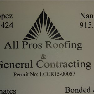 All Pros Roofing & General Contracting Logo
