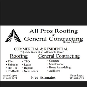 All Pros Roofing & General Contracting Cover Photo