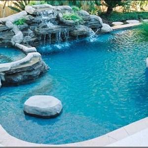 Blue Oasis Pool Care Logo