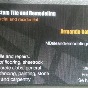 Mb Custom Tile and Remodeling Logo