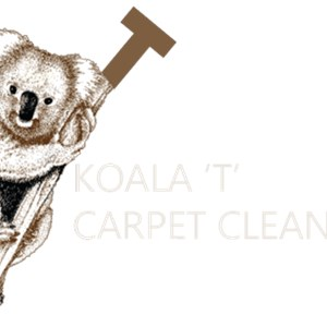 "Koala ""t"" Carpet Cleaning Service Logo"