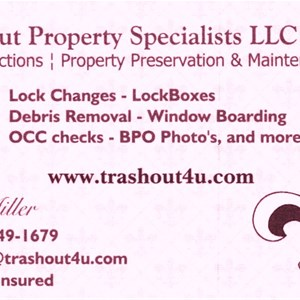 Trash Out Property Specialists Logo