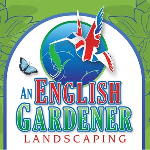 An English Gardener Landscaping. Logo
