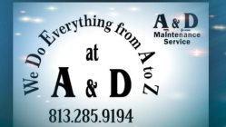 A&d Maintenance Service Logo