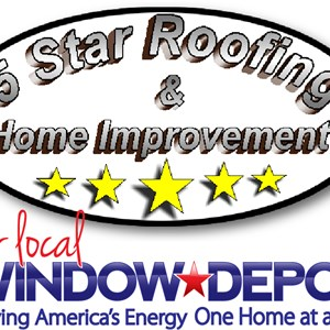5 Star Roofing & Home Improvement Logo