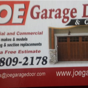 Joe Garage Door, Inc Logo
