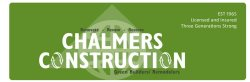 Chalmers Construction Logo