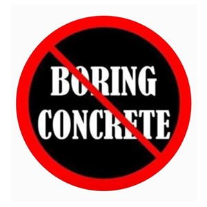 No Boring Concrete - Decorative Concrete Design Logo