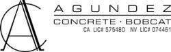 Agundez Concrete & Bobcat Logo