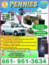 Pennies air conditioning, heating, solar and Constructions Logo