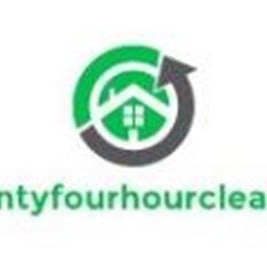 24 Hour Cleaning Company Logo
