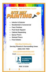 Rite Way Painting Inc. Logo