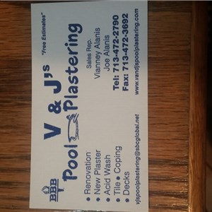 V & Js Pool Plastering Cover Photo