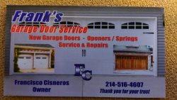Franks Garage Door Service Logo
