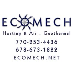Ecomech, LLC Heating and Air Logo