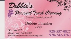 Debbies Personal Touch Cleaning, LLC Logo