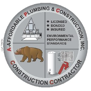 A Affordable Plumbing & Construction Logo