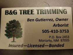 B&g Tree Trimming Logo