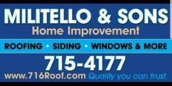Militello & Son Home Improvement Logo
