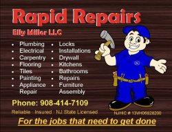 Rapid Repairs - Plumbing and Handyman Logo