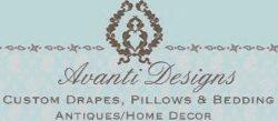 Avanti Designs, Draperies and Bedding Custom Quality. Logo