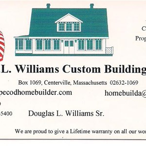 Doug Williams Custom Building  508-775-1500 Logo