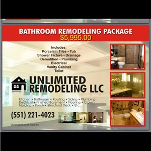 Unlimited Remodeling LLC Logo