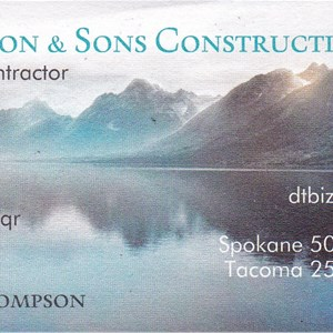 Thompson & Sons Construction Inc Logo