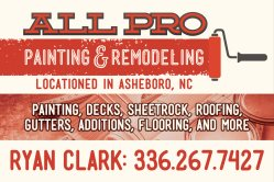 All Pro Painting Remodeling In Asheboro North Carolina - All pro painting