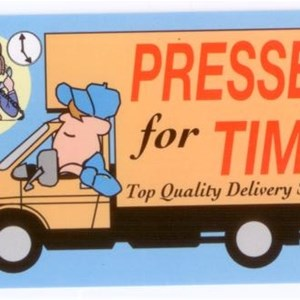 Pressed For Time Delivery Service & Moving Company Logo