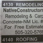 Native Constructors Inc. Logo