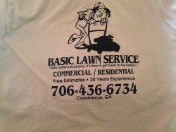 Basic Lawn Service Logo