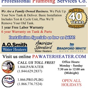 Professional Plumbing Services Co Logo