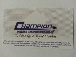 Champion Home Improvement Logo