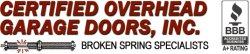 Certified Overhead Garage Door Logo