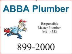 A B B A Plumbing CO Logo