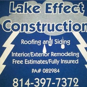 Lake Effect Construction Logo