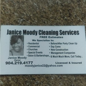 JANICE MOODY CLEANING SERVICE Logo