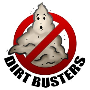 The Dirt Busters Are Us Logo
