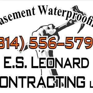E.s. Leonard Contracting Logo