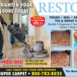 Super Carpet & floors restoration Logo