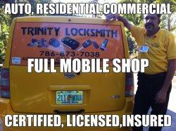 A Trinity Locksmith Corp. Logo