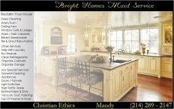 Bright Homes Maid Service Logo